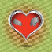 Abstracte rood hart — Stockvector