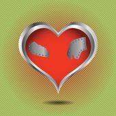 Corazón rojo abstracto — Vector de stock