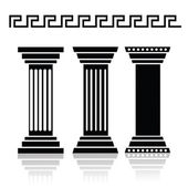 Ancient columns — Stock Vector