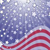Starry flag — Stock Vector