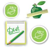 Diet icons — Stock Vector