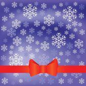 Kar pul ile mavi arka plan — Stok Vektör