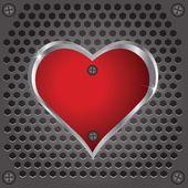 металлическое сердце — Cтоковый вектор