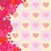 Abstract heart background — Vettoriale Stock