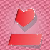 Paper heart — Stock Vector