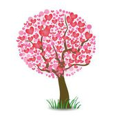 Heart tree — Vettoriale Stock