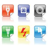 Electric icons — Stock Vector