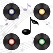Vinyl record — Vector de stock #39324973