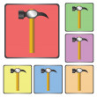 Hammer icon — Stock Vector #39695609