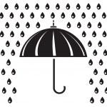 Silhouette of umbrella — Stock Vector #39860431