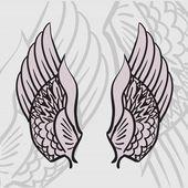 Dwa skrzydła — Wektor stockowy