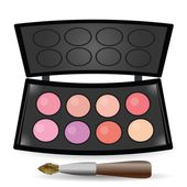 Eyeshadow palette — Stock Vector