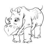 Rhinocéros — Vecteur