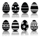 Silhouettes of easter eggs — Stock Vector