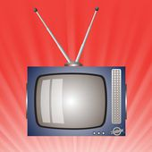 Old television — Stock Vector