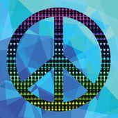 Cartel pacífico — Vector de stock
