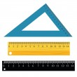 Set of rulers — Stock Vector #45187651