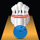 Bowling game — Stock Vector