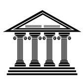 Ancient columns — Stock Vector