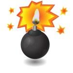 Bomba negra — Foto de Stock
