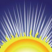 Sun Wave Background — Stock Photo