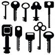 Collection of keys — Stock Photo #46717997