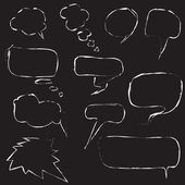 Set of speech bubbles on black background — Stock Photo