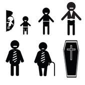Icons of human life — Stock Photo