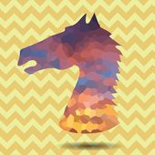 Abstract head horse — Stock Photo