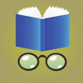 Kniha a brýle — Stock fotografie