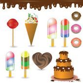 collection of sweets — Stock Photo