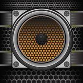 音乐扬声器 — 图库照片