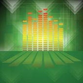 Equalizer on green background — Stock Photo