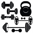Silhouettes of weights — Stock Photo #46774129