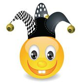 Smile in a jester hat — Stock Photo