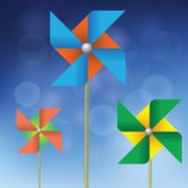 Barevné větrných mlýnů — Stock fotografie