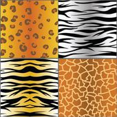 Set of animal skins — Stock Photo