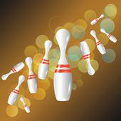 Bowling background — Stock Photo
