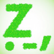 Grass letter Z — Stock Photo #47377047