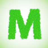 Grass letter M — Stock Photo