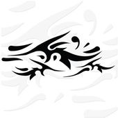 Silhouette of tattoo — Stock Vector