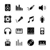 Ikona muzyki — Wektor stockowy