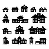 House Black and White — Stock Vector