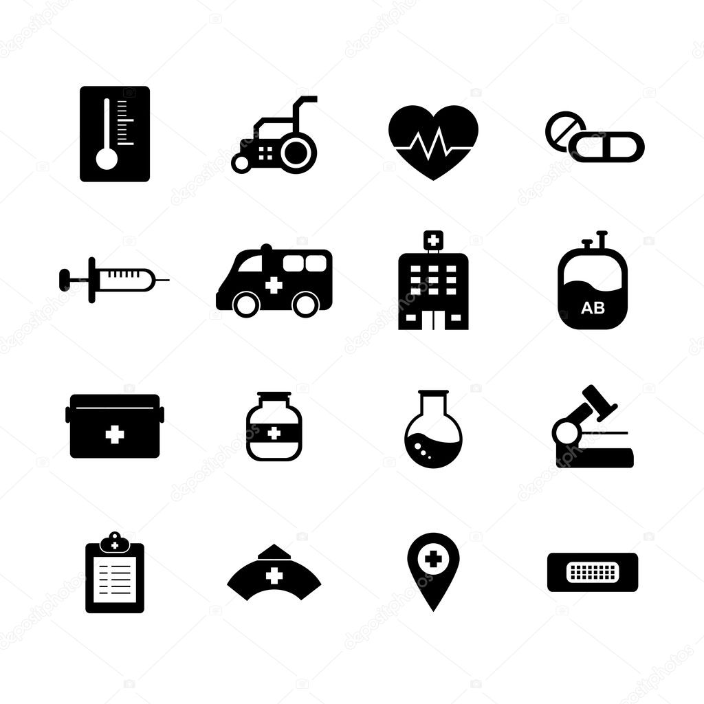 Krankenhaus-Icon Set, ...