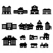 House Black and White set 2 — Stock Vector