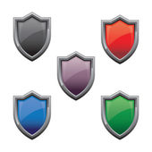 Shield Glossy — Stock Vector