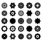 歯車のベクトルを設定 — ストックベクタ