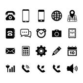Mobile phone Icon set — Stock Vector