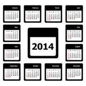Vettoriale calendario — Vettoriale Stock