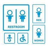 Toaletu znak sada — Stock vektor